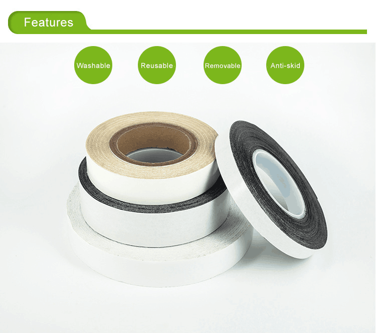 Grip Reusable Tape Features