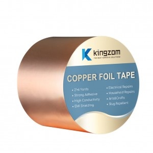 Copper Foil Tape Stained Glass with Conductive Adhesive Designed For Guitarists and electronics EMI