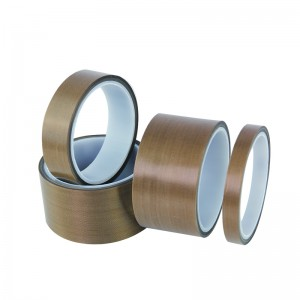 PTFE Teflon dilapisi Fiberglass Fabric Tape untuk Packing Makanan Heat Sealing Tekanan Bonding