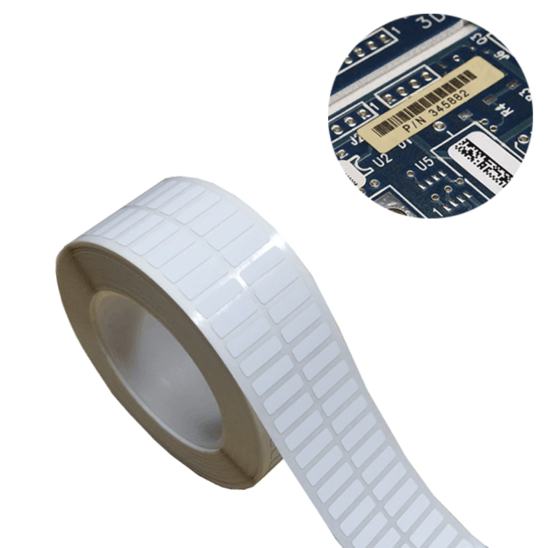 High Temperature Polyimide Thermal Transfer Labels PCB Tracking Label stock Die Cutting Featured Image
