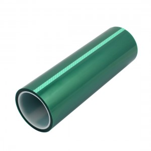 High Temperature green PET Tape Made with  Polyester and Silicone for Powder Coating and Masking