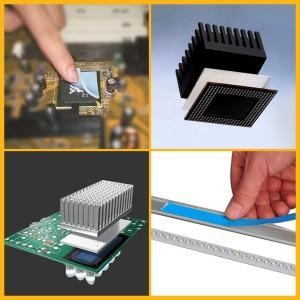 3M8805 8810 8815 डबल एलईडी और सीपीयू Iphone के लिए thermally प्रवाहकीय चिपकने स्थानांतरण टेप पक्षीय