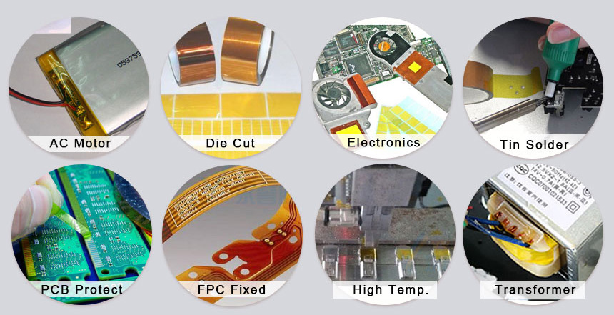 Heat Resistant Kapton Polyimide Tape Used For High