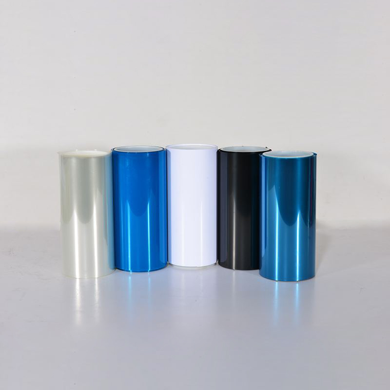 Colored Transparent BOPET Release Film PET Silicone Coated Release Film for Self-adhesive Bottom Transfer Featured Image