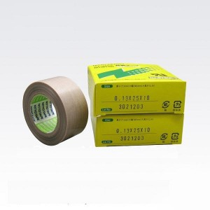 نيتو 973 تفلون PTFE الألياف الزجاجية القماش الشريط لإخفاء مقاومة للحرارة