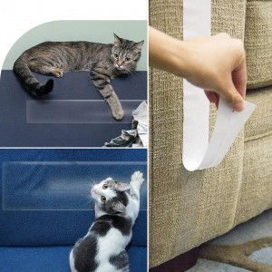Anti-Scratch Pelatihan Cat Tape Double Sided Sticky Cat Scratch jera Tape Simpan Furniture Anda