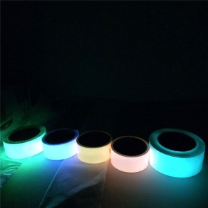 PET PVC Blue Photoluminescent Film Tape Glow in Dark for Emergency Exit Signage