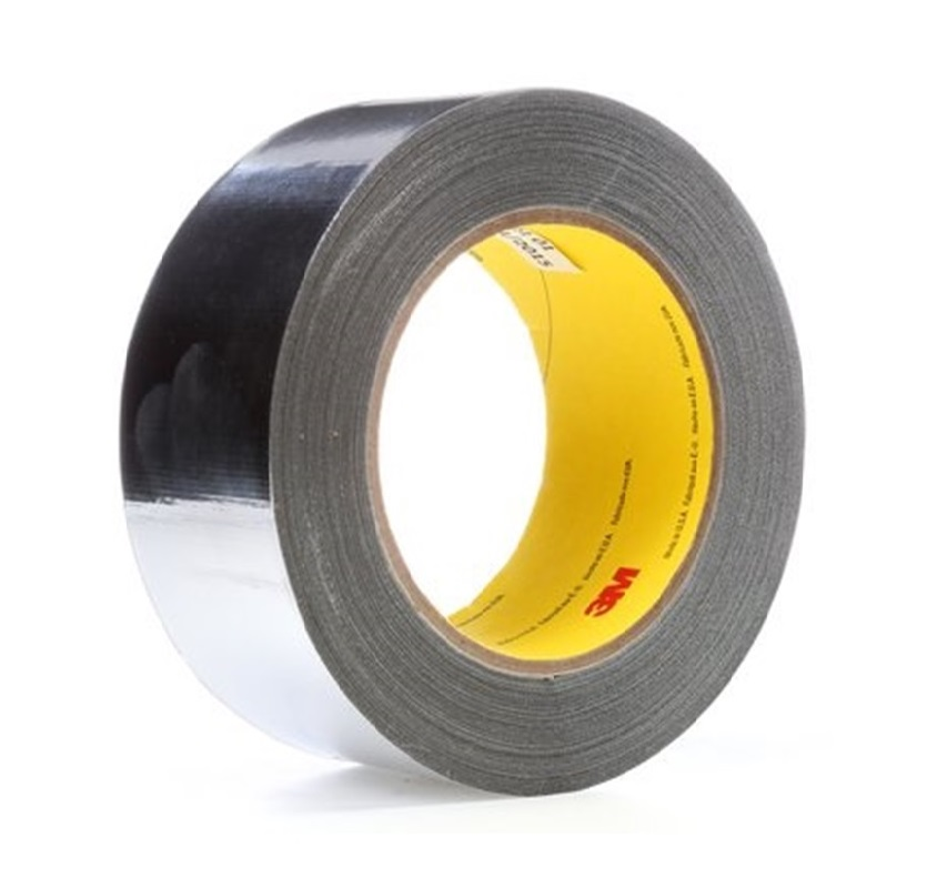 3M363L High Temperature Aluminum Foil Glass Cloth Tape Wrap Over Insulation Cables Featured Image
