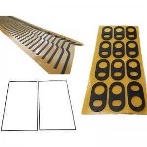 Custom CAD/PDF Drawing Die Cutting service of ROGERS Poron Foam Gasket Tape