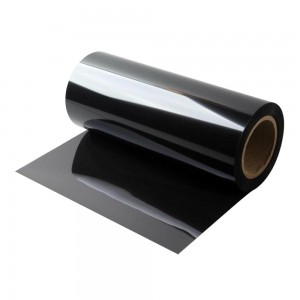 Ultra-thin matte black color anti-fingerprint PET film with single-coated adhesive tape facilitate heat sink and Shading light of thinner electronic equipment