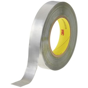 3M363L High Temperature Aluminum Foil Glass Cloth Tape Wrap Over Insulation Cables
